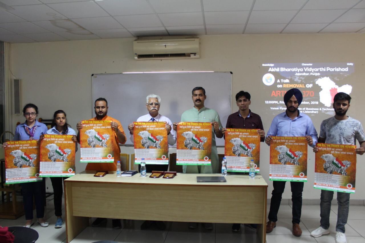ABVP Jalandhar Organized A Talk on Removal of ARTICLE 370